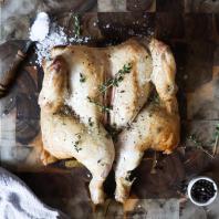 Spatchcock Chicken Salt and Pepper